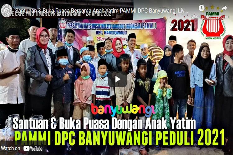 Santunan & Buka Puasa Bersama Anak Yatim PAMMI DPC Banyuwangi Live Cafe PWO 2021